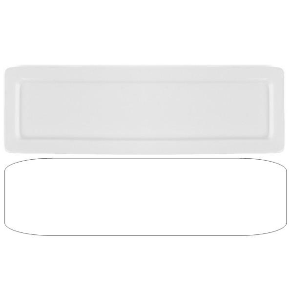 Porzellan Gastronorm Platte GN 2/4 20 mm