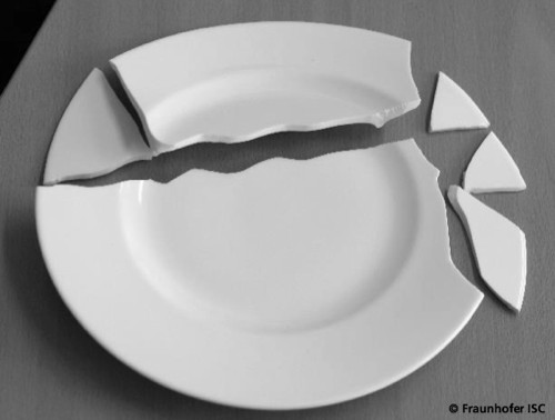 Holst Porzellan Warenkunden Teller zerbrochen