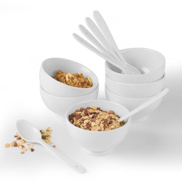 Porzellan Müsli- & Frühstücks-Set 12 tlg.