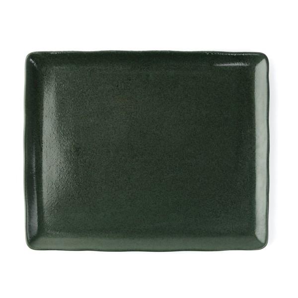 """Porzellan Platte 33 x 27 cm """"Musgo"""", grün"""