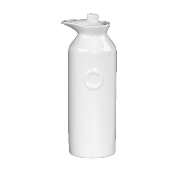 """Porzellan Ölflasche mit Prägung """"O"""" (**)"""