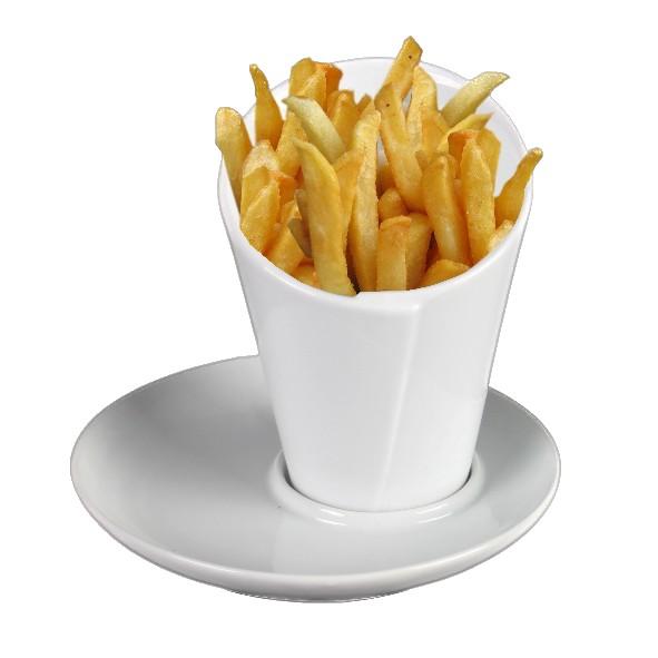 Pommesschale & Frittentüte 10 cm auf Untere UTM 017 (**)