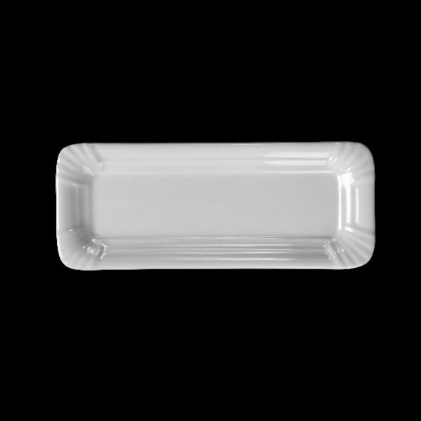 "Porzellan Wurstplatte 20 cm Pappoptik ""Snack Line"""