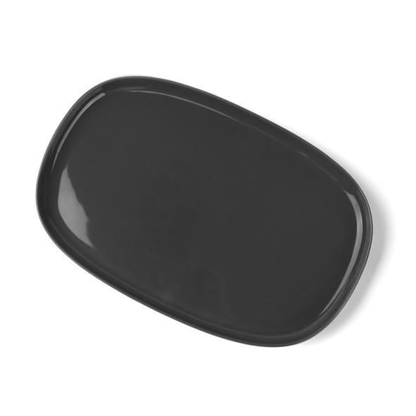 """High Alumina Porzellan Platte 30 x 20 cm """"Skagen"""" grau"""