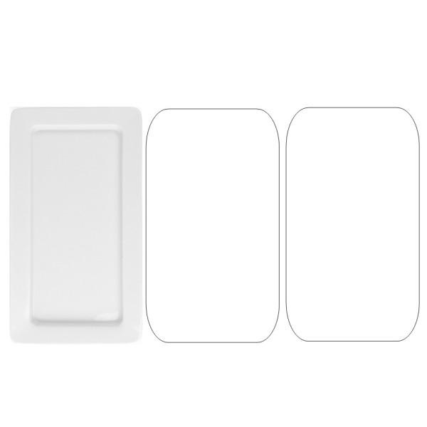 Porzellan Gastronorm Platte GN 1/3 20 mm