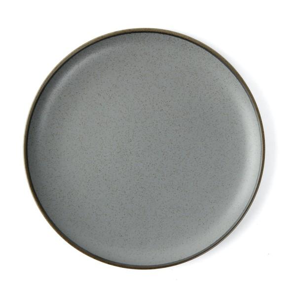 """Alumina Porzellan Teller flach 26 cm rund """"Granito"""", grau"""