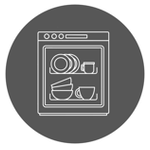 Symbol Spülmaschinenfestigkeit