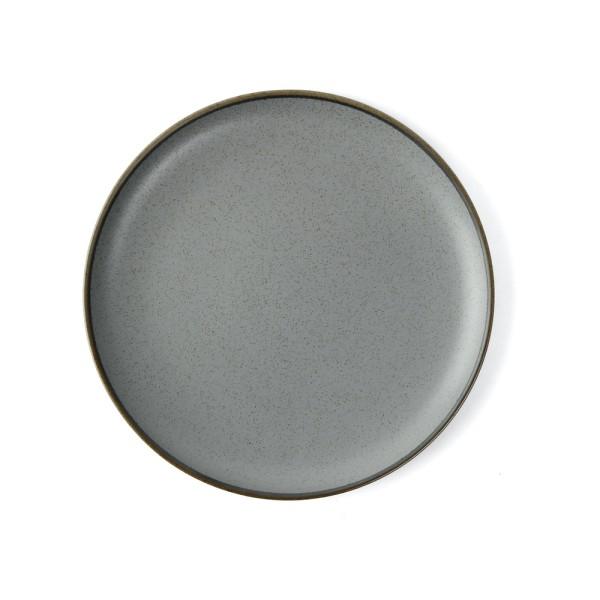 """Alumina Porzellan Teller flach 21 cm rund """"Granito"""", grau"""