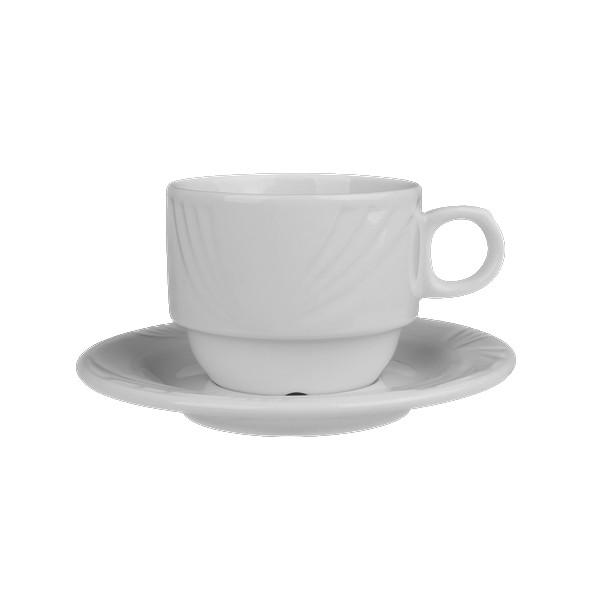 "Alumina Kaffeetasse 0,22 l stapelbar mit Untere ""Lubin"""