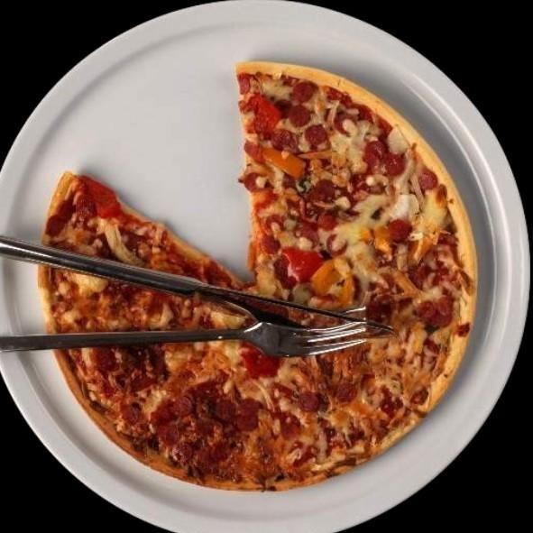 Profi Pizzateller 36 cm Hartporzellan