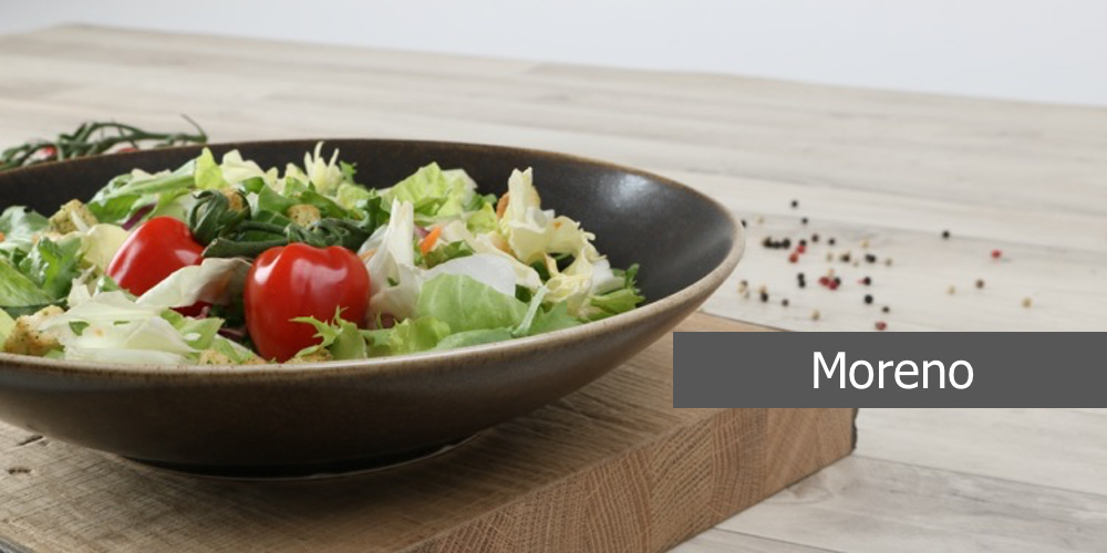 Geschirrserie Moreno aus hochwertigem High Alumina Porzellan