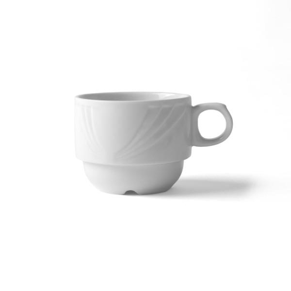 """Alumina Kaffeetasse 0,22 l stapelbar Reliefform """"Lubin"""""""