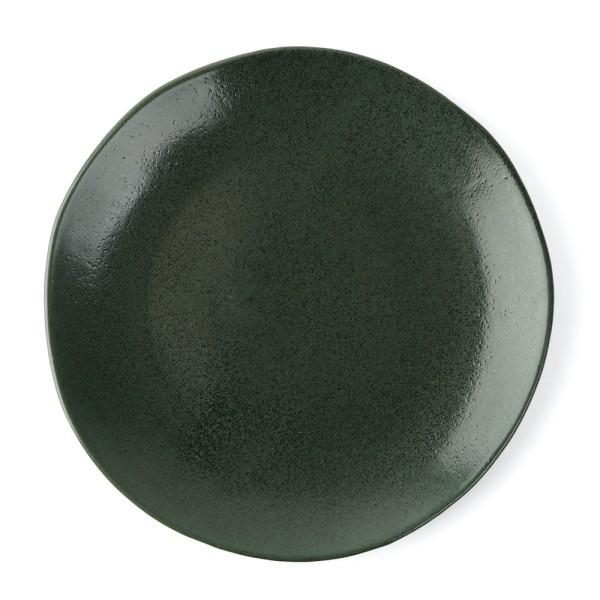 "Porzellan Teller flach 27 cm ""Musgo"", grün"