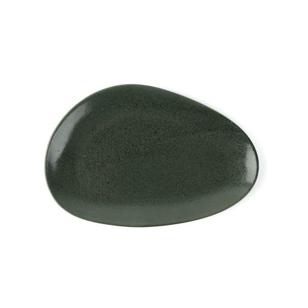 """Porzellan Platte 27 cm oval """"Musgo"""", grün"""