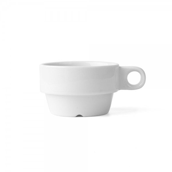 "Porzellan Kaffee-Obertasse 0,20 l ""Hospitalia"" stapelbar"
