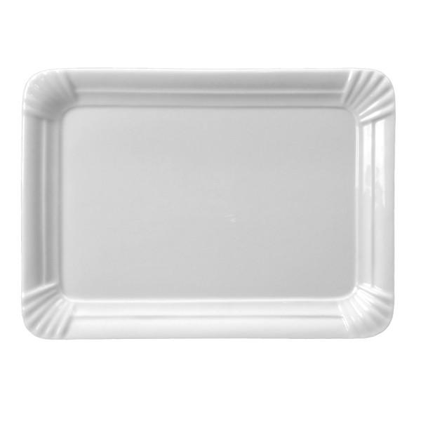 """Porzellan Servierplatte 25 cm """"Einweg-Design"""""""