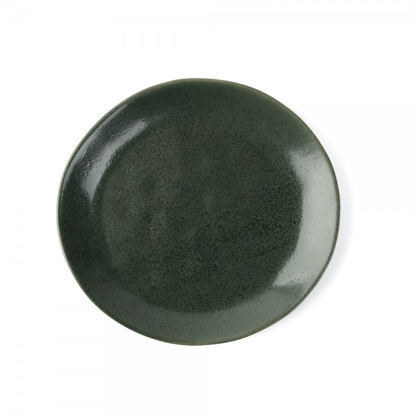 "Porzellan Teller flach 21 cm ""Musgo"", grün"