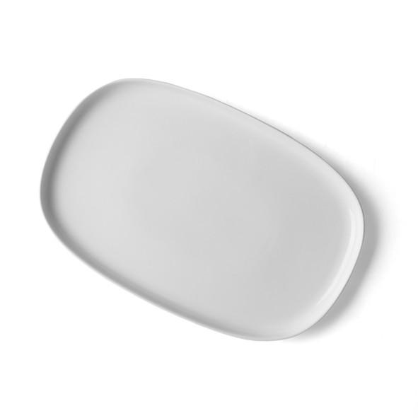 """High Alumina Porzellan Platte 30 x 20 cm """"Skagen"""" weiß"""