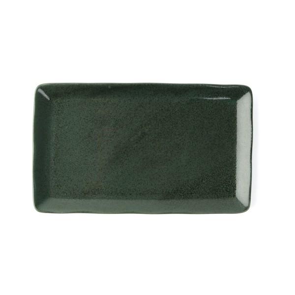 """Porzellan Platte 27 x 16 cm """"Musgo"""", grün"""