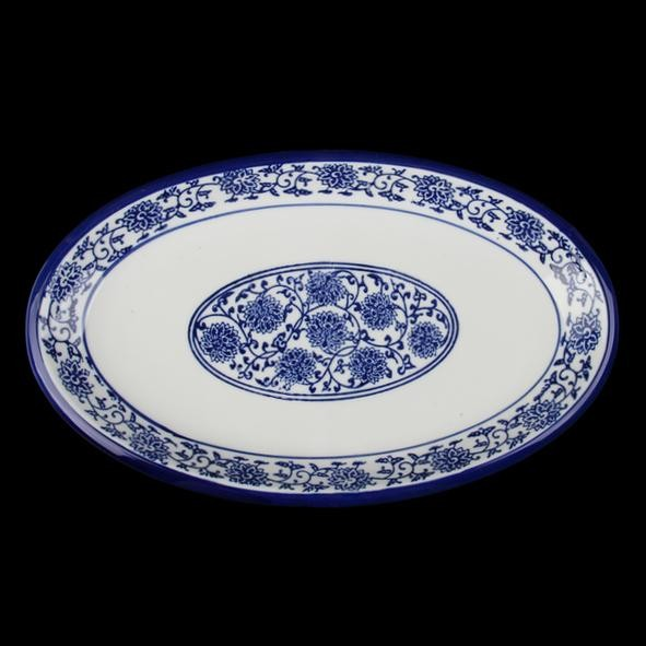 "Platte oval 30 x 18 cm ""Qing Hua Ci"" (**)"